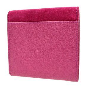 Authentic GUCCI Bamboo Line Wallet Purse Pink Nubu